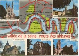 Vallée De La Seine : Route Des Abbayes De Tancarville à Rouen Multivues (n°4683 Combier Neuve) - France