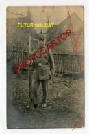 Futur SOLDAT-ENFANT-UNIFORME-Preparation ENFANTINE Au Militaire-Influence-Carte Photo All-Guerre 14-18-1 WK-Militaria- - Guerre 1914-18
