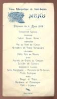 Menu Union Vélocipédique De Saint Gervais Les Trois Clochers   Vienne   1923 - Cyclisme