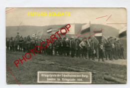 BURGHAUSEN-Bayern-Futurs SOLDATS-ENFANT-Preparation ECOLIERE A La Guerre-Carte Photo All-Guerre 14-18-1 WK-Militaria- - Oorlog 1914-18