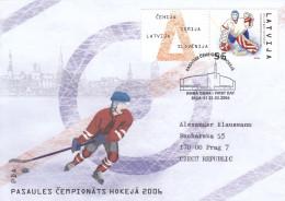 EISHOCKEY-ICEHOCKEY-HOCKE Y SUR GLACE-HOCKEY SU GHIACCIO, Latvija, 2006, Special Postmark !! - Hockey (su Ghiaccio)