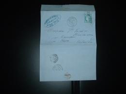 LETTRE (PLI) TP CERES DENTELE 25c OBL. GC 2338 + 31 JUIL 72 MEUDON (72) (92) FABRIQUE DE MALT BOURET Pour Brasseurs - Marcophilie (Lettres)