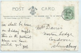 Single Circle - Ilfracombe On Related PC - Postmark Collection