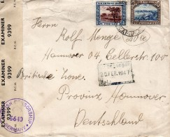 Afrique Du Sud Ouest Lettre Censurée Pour L'Allemagne 1947 - Südwestafrika (1923-1990)