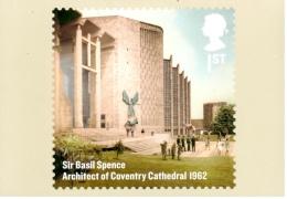 Sir Basic Spence - Architecte De La Cathédrale De Coventry - Carte PHQ + Timbre ** - 2012 - 1952-.... (Elizabeth II)