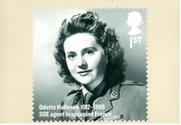 Odette Hallows - France Occupée - Carte PHQ + Timbre ** - 2012 - 1952-.... (Elizabeth II)