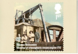 Thomas Newcomen - Inventeur De La Machine à Vapeur Atmosphérique - Carte PHQ + Timbre ** - 2012 - 1952-.... (Elizabeth II)