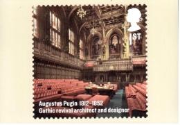 Augustus Pugin - Architecte Gothique - Carte PHQ + Timbre ** - 2012 - 1952-.... (Elizabeth II)
