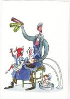 DEBECKER  Benoit  - Humour  Publicité La Vache Qui Rit - Mamy Nova - Bébé Cadum  - 2010  CPM  10,5x15  ETAT LUXE - Andere Zeichner