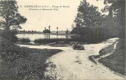 - Indre Et Loire -ref A482 - Luzille - Etang De Brosse - Chaussee Et Deversoirs - Etangs - Deversoirs - Voiture - - France