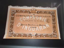 COMPAGNIE D´INGUARAN (mexique) 1898 - Zonder Classificatie
