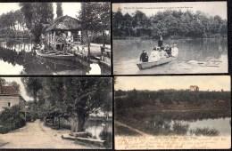 4 X Environs De Rhode-St-Genèse : L´Etang - Hotel - Partie De Barquette - Moulin Des 7 Fontaines - St-Genesius-Rode