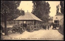 CPA Rhode-St-Genèse - Sept Fontaines - Un Kiosque Du Restaurant ! Vieille Moto - Voiture - Rhode-St-Genèse - St-Genesius-Rode