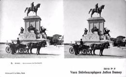 # Vues Stéréoscopiques - Rome - Monument De Garibaldi / Roma - Monumento Di  Garibaldi - Estereoscópicas
