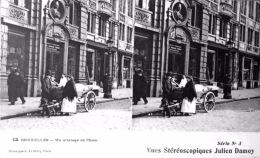 # Vues Stéréoscopiques - Bruxelles  - Un Attelage De Chien - Estereoscópicas