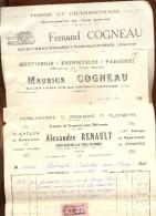 Lot 3 Factures Saint Gervais Les Trois Clochers    Vienne   1945 - France