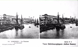 # Vues Stéréoscopiques - Londres - La Tamise - La Douane - Estereoscópicas