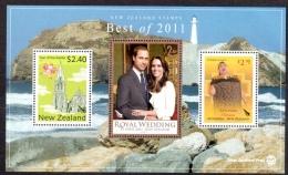 Nvlle Zélande - Best Of 2011 - Année Du Lièvre - Mariage Royal - Aotearoa - Blocs-feuillets