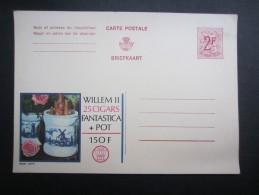 PUBLIBEL 2265 Fn (V1604) WILLEM II 25 Cigars Fantastica + Pot (2 Vues) Non Circulé - Entiers Postaux