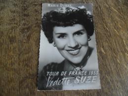 CPA Du Tour De France 1953 - Publicité Vedette Et Suze - Portrait Marie Dubas - Cyclisme