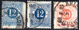 SWEDEN 1877 12o (2 Shades), 20o  Used - Suède
