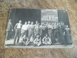 CPA Photo De L´entreprise De Tri-Porteurs Juéry Frères, Ouvriers Et Cadres, Années 1900 - Cartes Postales