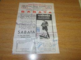 Poster Affiche Cinema Lee Van Cleef Western Sabata 1971 Portugal - Posters