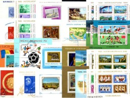 26 Blocks Rumänien Bl.39 49 50 54 73 75 79 116 155 Bis 242 264 **/o 164€ Sport EXPO Hb Space Ms History Sheet Bf Romania - Sonstige