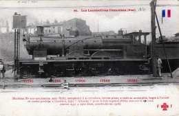 LES LOCOMOTIVES FRANCAISES (Etat), Alte Ak Nicht Gelaufen - Trains