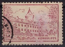 Konopiště CASTLE - Czechoslovakia / CINDERELLA / LABEL / VIGNETTE - Used - Other