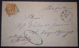 ANNULLI NUMERALI TOSCANA: NUMERALE SIGNA Firenze - 1861-78 Vittorio Emanuele II
