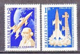 HUNGARY  1381-2      **    SPACE  YURI  GAGARIN  VOSTOK  I - Space