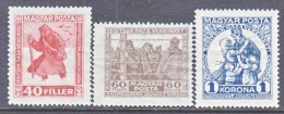 HUNGARY  B 69a-71  Fault  *  PRISONERS  OF  WAR - Unused Stamps