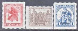 HUNGARY  B 69a-71  Fault  *  PRISONERS  OF  WAR - Hungary