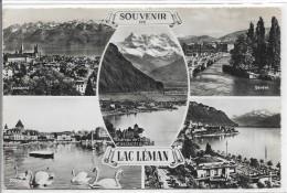 CPSM - SUISSE - GENEVE - Multivues - Souvenir Du Lac Léman - 1953. - Souvenir De...