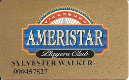 Ameristar Casino Vicksburg, MS - Slot Card - Without Insert Arrows - Casino Cards