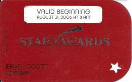 Ameristar Casinos Slot Card Multiple Locations - Bottom Line Text Shorter On Reverse - Valid Aug 31, 2006 - Casino Cards