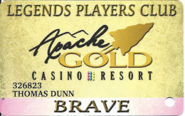 Apache Gold Casino San Carlos, AZ Slot Card - Casino Cards