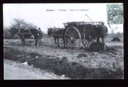 92 Hauts De Seine Antony Dans Les Champs Village Animée LP Attelage - Antony