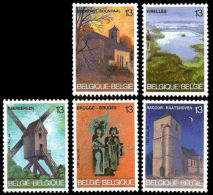Belgium 1987 Landscapes Nature View Tourism Geography Places Architecture Stamps MNH SG 2913-2917 Scott 1271-1275 - Unclassified