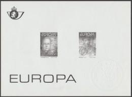 Belgique 1994 Y&T 2551/2. Feuillet Noir Avec Sceau à Sec De La Poste. Europa, Grandes Découvertes. Big Bang Et Mercator - 1994