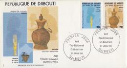 Enveloppe  FDC  1er  Jour   DJIBOUTI    Art  Traditionnel   1988 - Djibouti (1977-...)