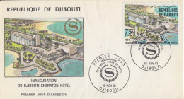 Enveloppe  FDC  1er  Jour   DJIBOUTI    Inauguration  SHERATON  HOTEL   1981 - Djibouti (1977-...)