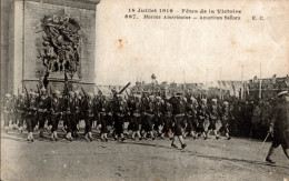 JUILLET 1919 FETES DE LA VICTOIRE MARINS AMERICAINS DEFILANT A PARIS - Guerre 1914-18