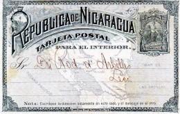 Tarjeta Postal En 1890 - Nicaragua