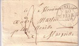 VAUCLUSE - PERTUIS - T12 DU 20 JANVIER 1831 - LETTRE AVEC TEXTE ET SIGNATURE. - Marcophilie (Lettres)
