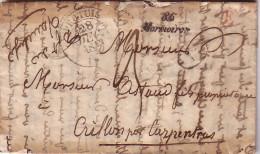 VAUCLUSE - PERTUIS - T13 DU 28-12-1843 - CURSIVE 86 MORMOIRON + BOITE RURALE E EN ROUGE DE VITROLLES - AVEC TEXTE ET SIG - Marcophilie (Lettres)