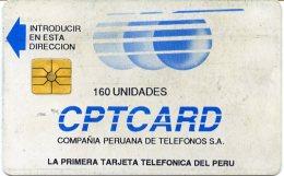 @+ TC Du Perou - CPTCard - Primera Tarjeta Telephonica 160U - Pérou
