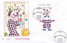 Germany FDC 2000 Für Uns Kinder - Souvenir Sheet (A20) - [7] Federal Republic