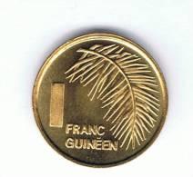 GUINEA - 1 Franc 1985 SC  KM56 - Guinea